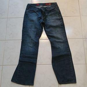 Medium Dark Wash Eva Bootcut Jeans x Express